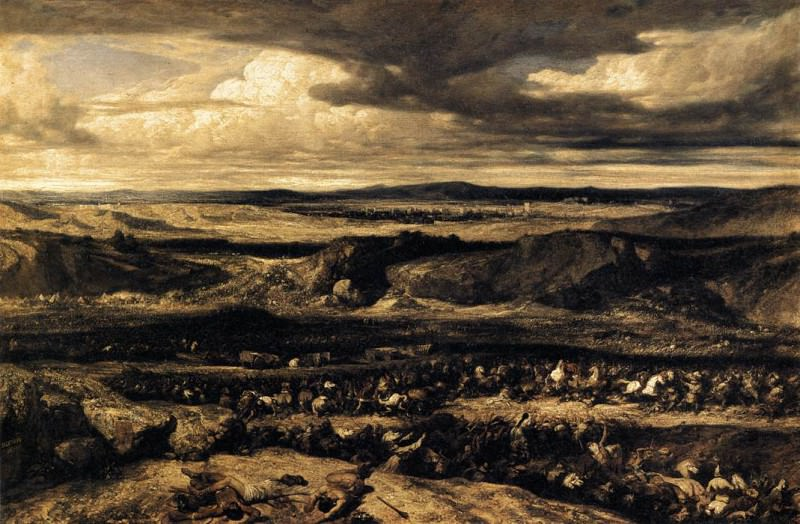 The Defeat of the Cimbri. Alexandre-Gabriel Decamps