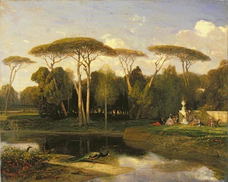 The Villa Doria Pamphili. Alexandre-Gabriel Decamps