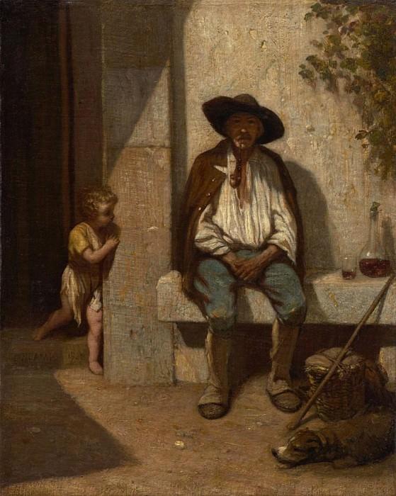 Italian Peasant. Alexandre-Gabriel Decamps