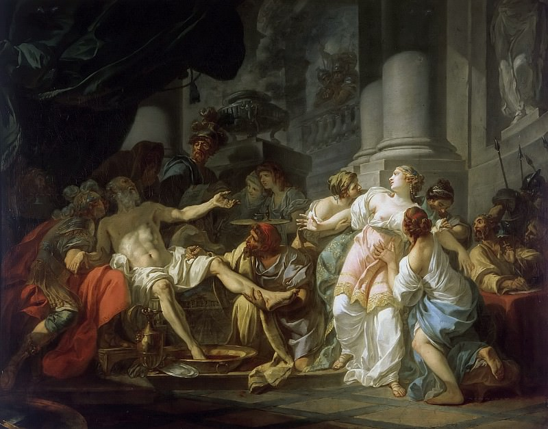 The Death of Seneca. Jacques-Louis David
