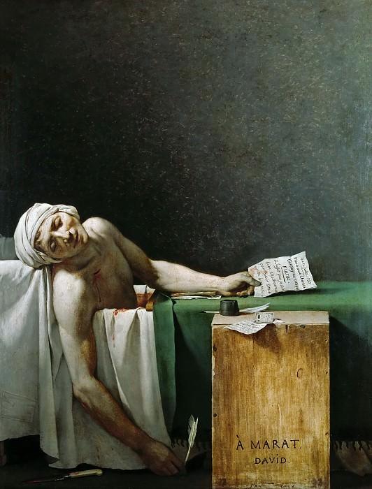 Death of Marat. Jacques-Louis David