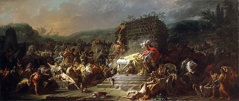 The Funeral of Patroclus. Jacques-Louis David