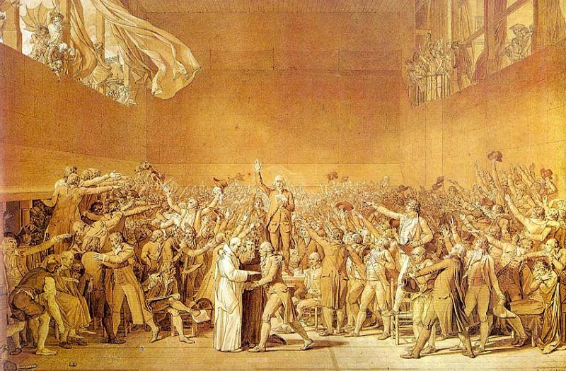 The Tennis Court Oath. Jacques-Louis David