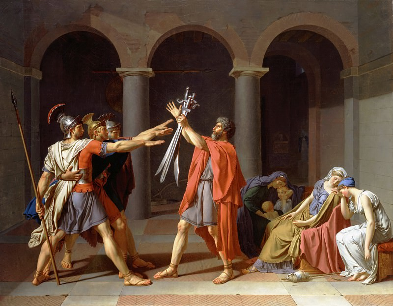 Oath of the Horatii. Jacques-Louis David
