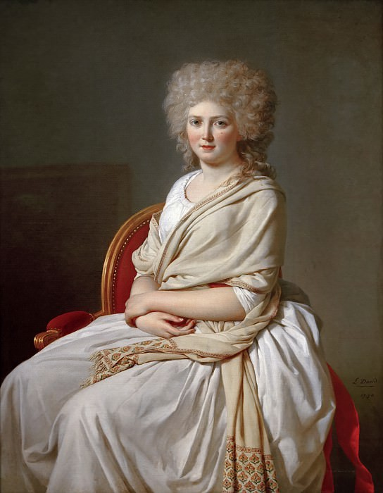 Анна-Мария-Луиза Телюссон, графиня де Сорси. Жак-Луи Давид