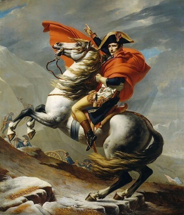Bonaparte Crossing the Grand Saint-Bernard Pass, 20 May 1800. Jacques-Louis David