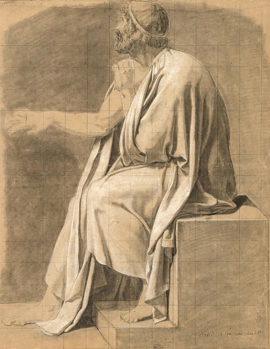 Figure Study for «The Death of Socrates». Jacques-Louis David