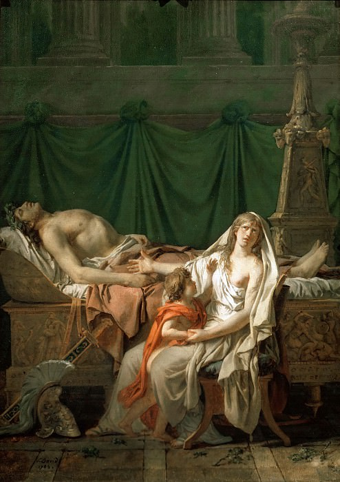 The Tears of Andromache. Jacques-Louis David