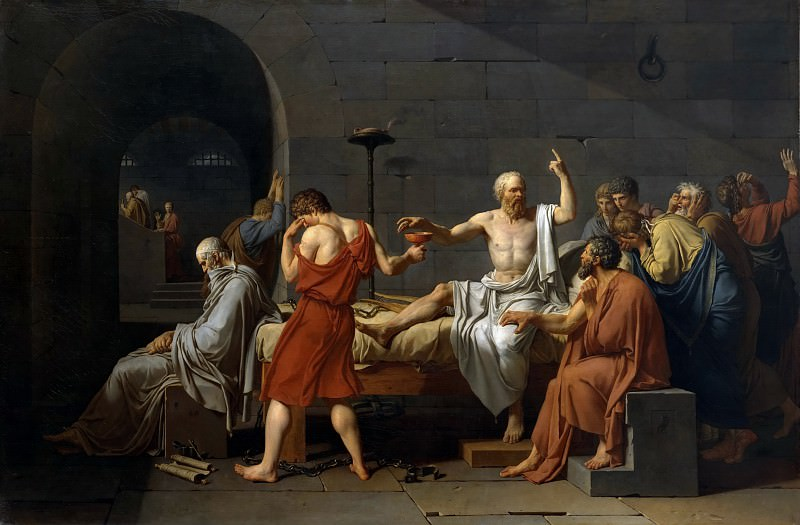 The Death of Socrates. Jacques-Louis David