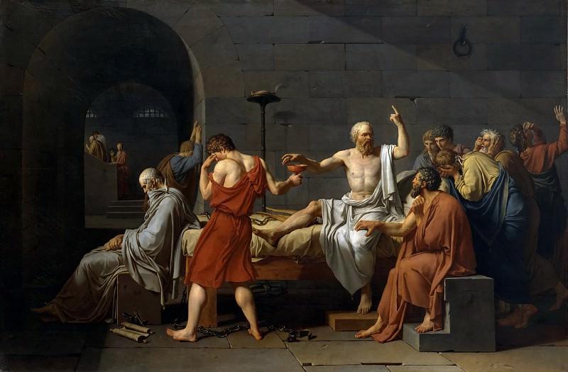 Смерть Сократа. Жак-Луи Давид