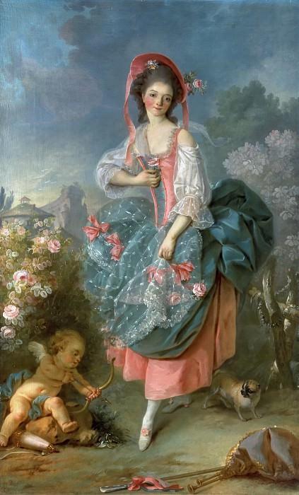Mlle Guimard as Terpsichore. Jacques-Louis David