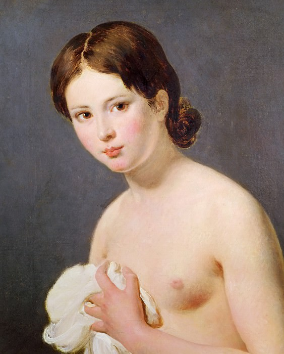 Portrait of a young girl (attr.). Jacques-Louis David