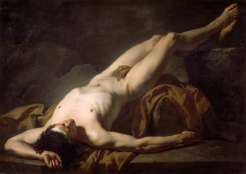 Male Nude known as Hector. Jacques-Louis David