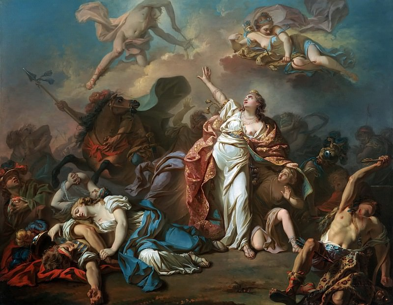 Apollo and Diana Attacking the Children of Niobe. Jacques-Louis David