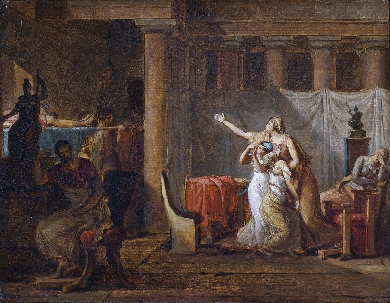 The Lictors Returning to Brutus the Bodies of his Sons. Study. Jacques-Louis David