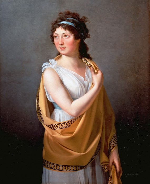 Женский портрет (атр.). Жак-Луи Давид
