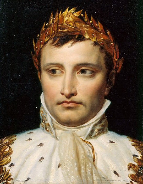 Study of the head for a portrait of Napoleon I in coronation costume. Jacques-Louis David