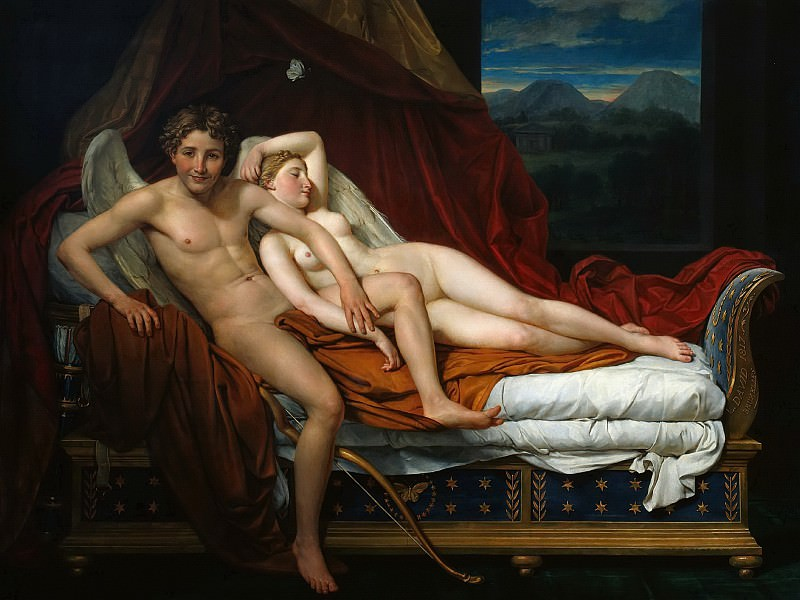 Cupid and Psyche. Jacques-Louis David