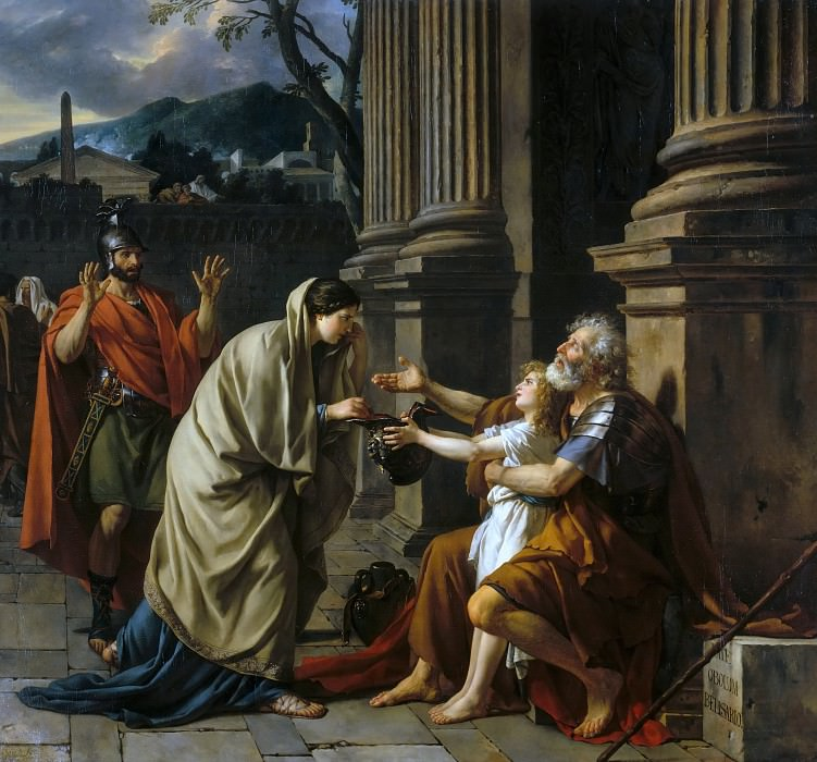 Belisarius asking for alms. Jacques-Louis David
