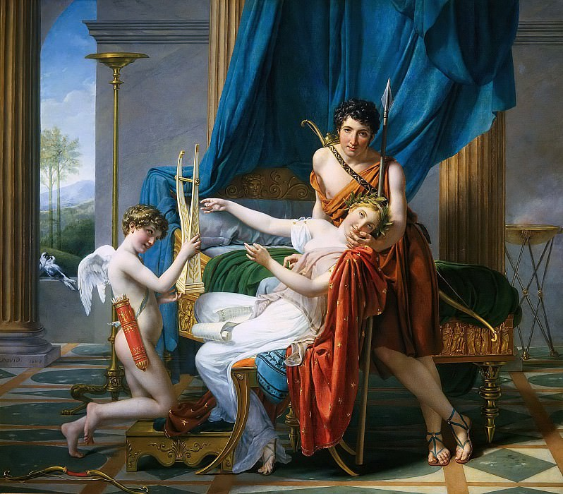 Sappho and Phaon. Jacques-Louis David