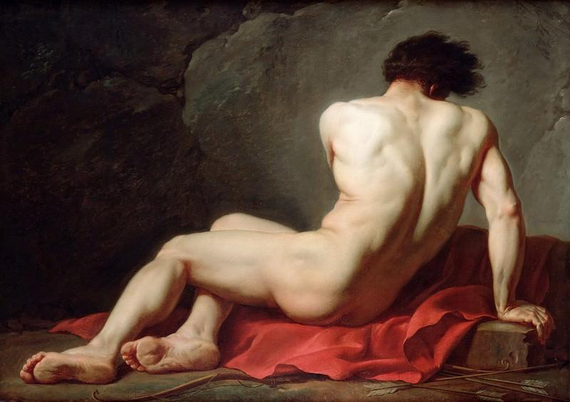 Male Nude known as Patroclus. Jacques-Louis David
