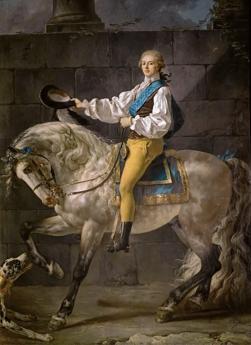 Count Stanislas Potocki. Jacques-Louis David