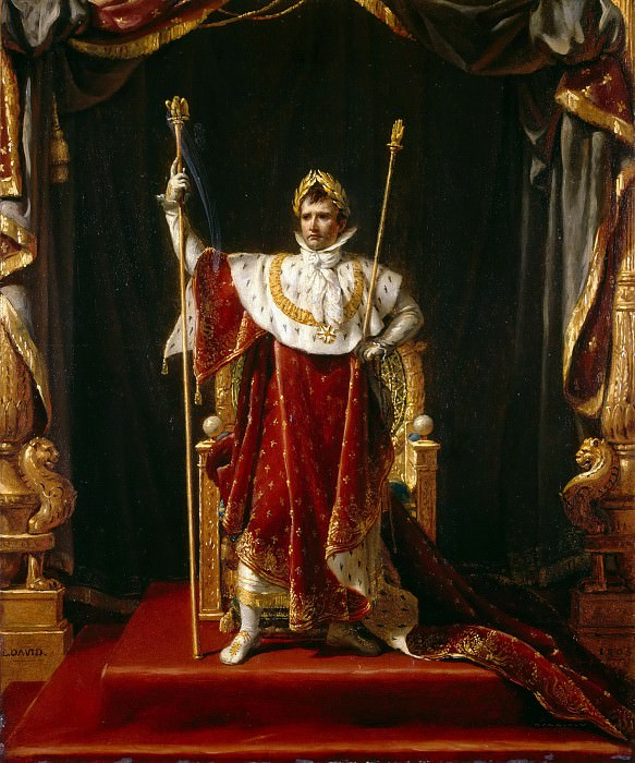 Portrait of Napoleon in imperial costume. Jacques-Louis David