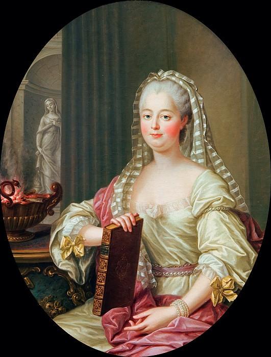 Madame de Pompadour as vestal. Francois-Hubert Drouais