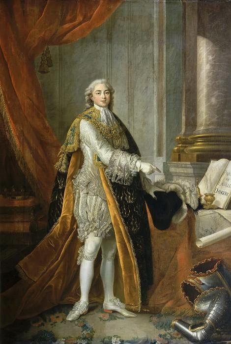 Louis-Stanislas-Xavier de France (1755-1824), comte de Provence. Francois-Hubert Drouais
