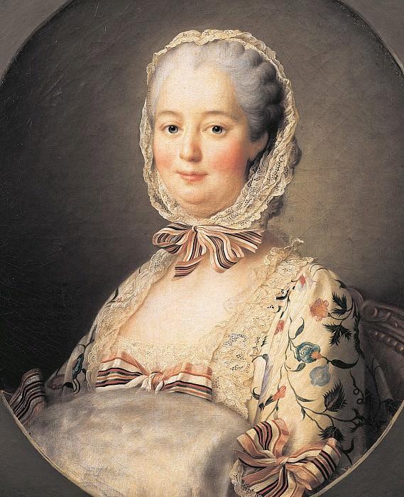 Portrait of the Marquise de Pompadour (1721-1764). Francois-Hubert Drouais