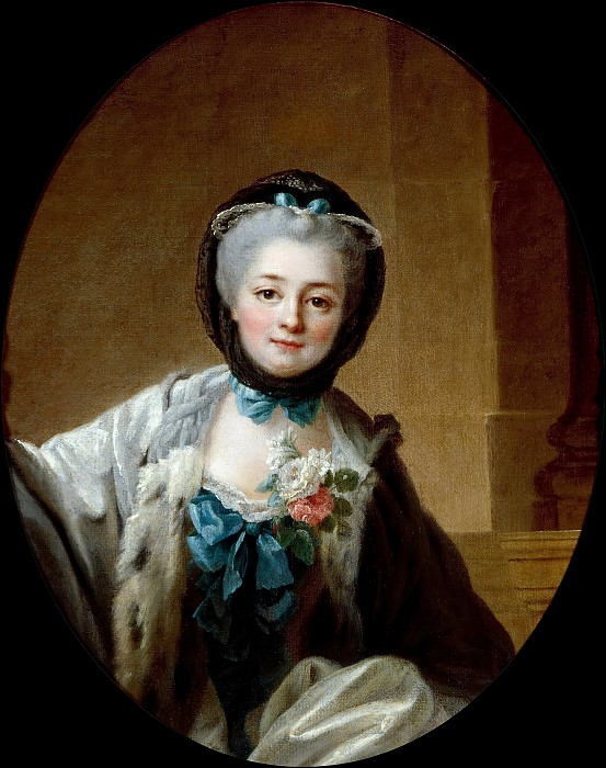 Woman with Sparkling Eyes. Francois-Hubert Drouais