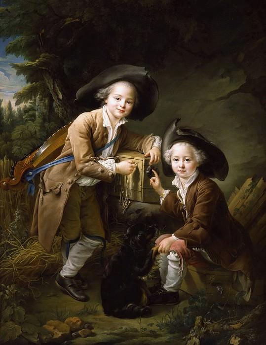 Count and the Chevalier de Choiseul as Savoyard. Francois-Hubert Drouais