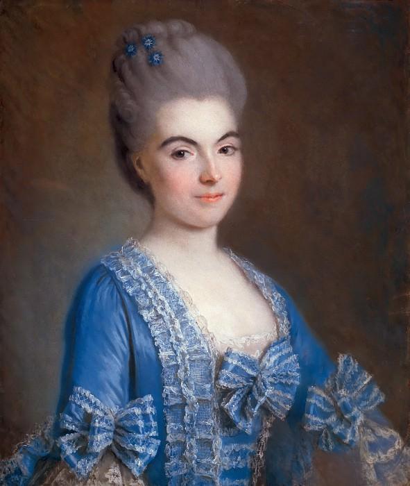 Портрет дамы в голубом. Франсуа-Юбер Друэ