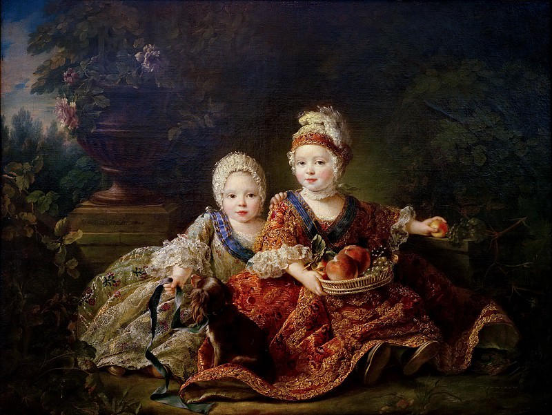 Louis de France (1754-93) duc de Berry and Louis de France (1755-1824) comte de Provence (later Louis XVI and Louis XVIII). Francois-Hubert Drouais