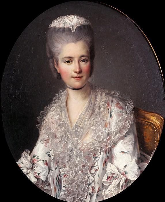 Portrait of the Marquise de Narbonne. Francois-Hubert Drouais