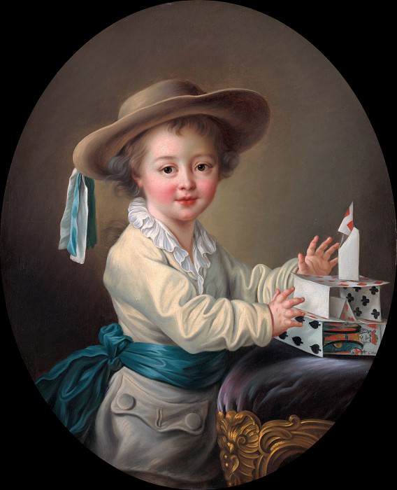 Boy with a House of Cards. Francois-Hubert Drouais