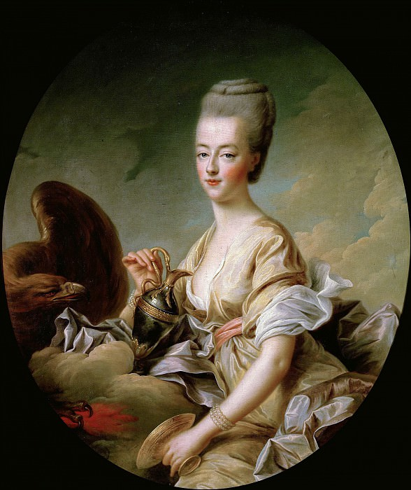 The Dauphiness Marie-Antoinette (1755-93) as Hebe. Francois-Hubert Drouais