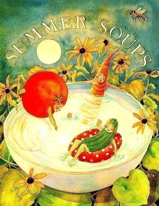 Blue Moon Soup Summer Soup. Jane Dyer