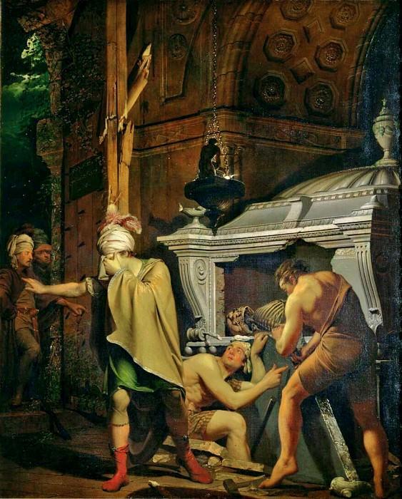 Мираван вскрывает гробницу своих предков. Джозеф Райт из Дерби