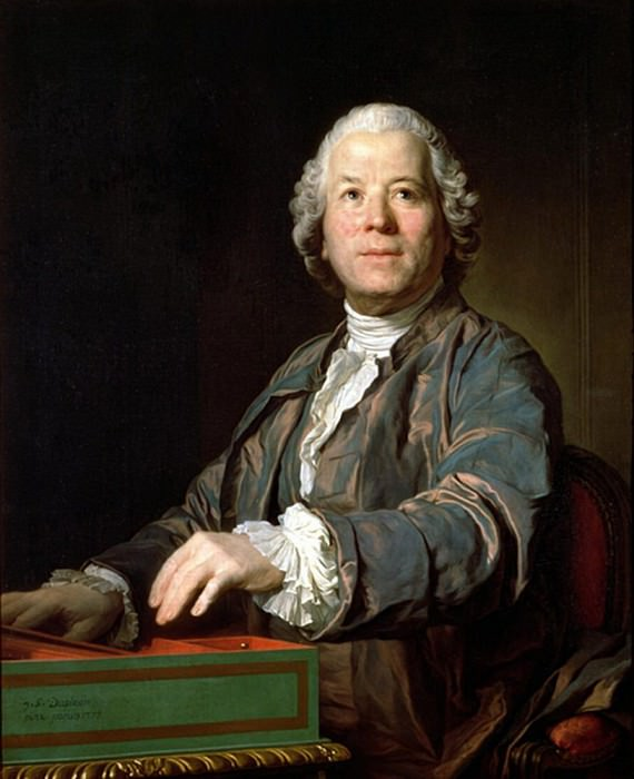 Christoph Willibald Gluck (1714-87) at the spinet. Joseph Siffred Duplessis