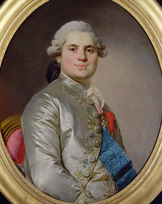 Louis de France (1755-1824) Comte de Provence — Joseph Siffred Duplessis