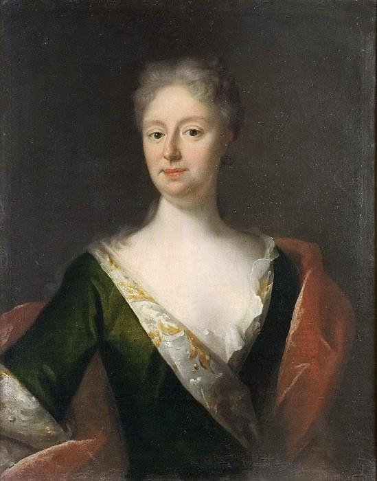 Sofia Gyllenstierna of Ulaborg (1682-1722), friherrinna, g.m. friherre Adolf Herman Wrangel of Lindeberg. Georg Desmarees