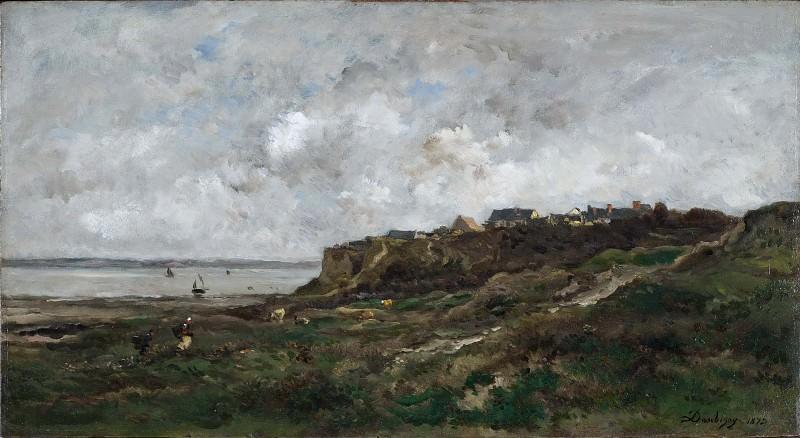 Low Tide at Villerville. Charles-Francois Daubigny