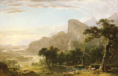 Landscape Scene From Thanatopsis. Asher Brown Durand