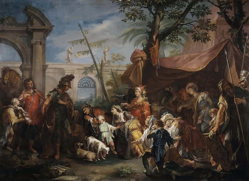 The Family of Darius Pleading to Alexander. Gaspare Diziani (Attributed)
