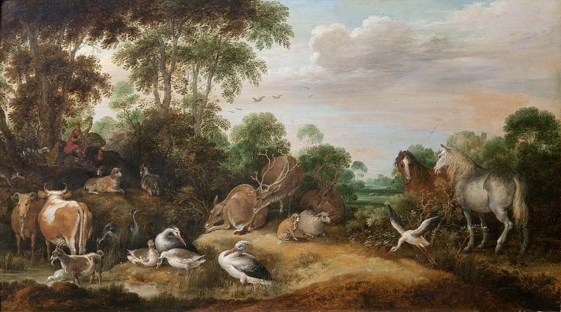 Orpheus Charming the Beasts. Gillis d'Hondecoeter