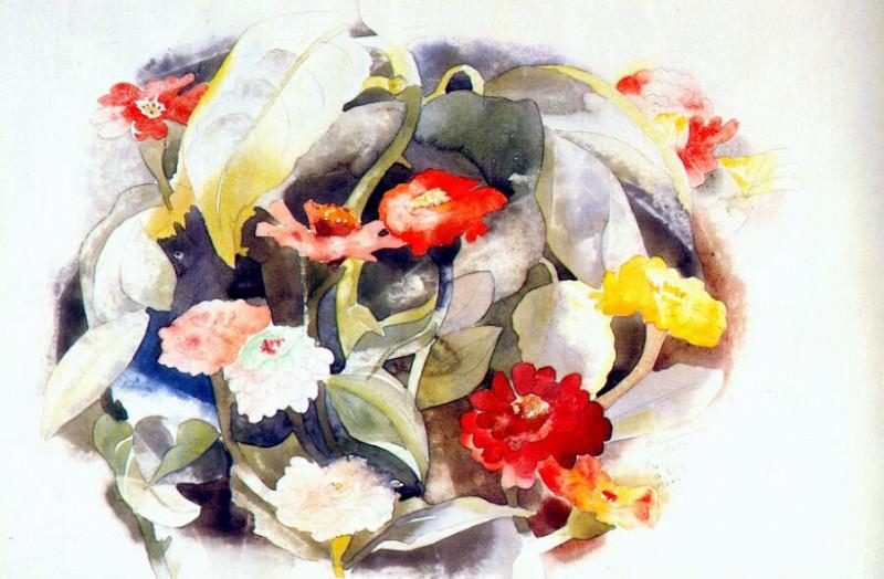 Циннии, 1921. Чарльз Демут