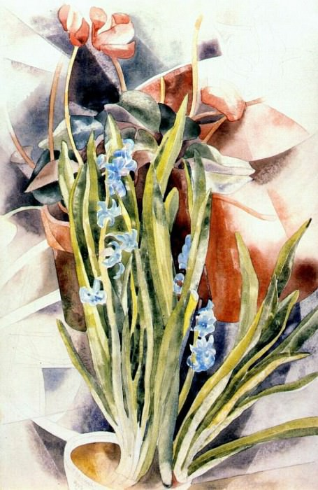 flower study no 1 (cyclamen and hyacinth) 1923. Charles Demuth