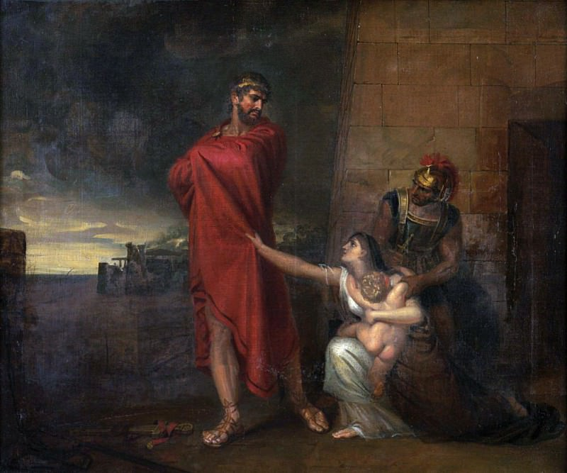 Andromache imploring Ulysses to spare the life of her son. George Dawe