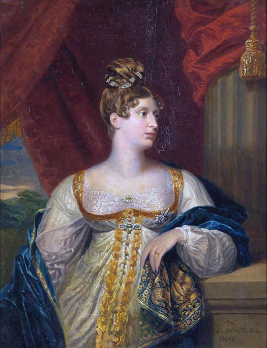 Portrait of Princess Charlotte of Wales and Saxe Coburg. George Dawe